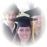 Image of three graduates on graduation day